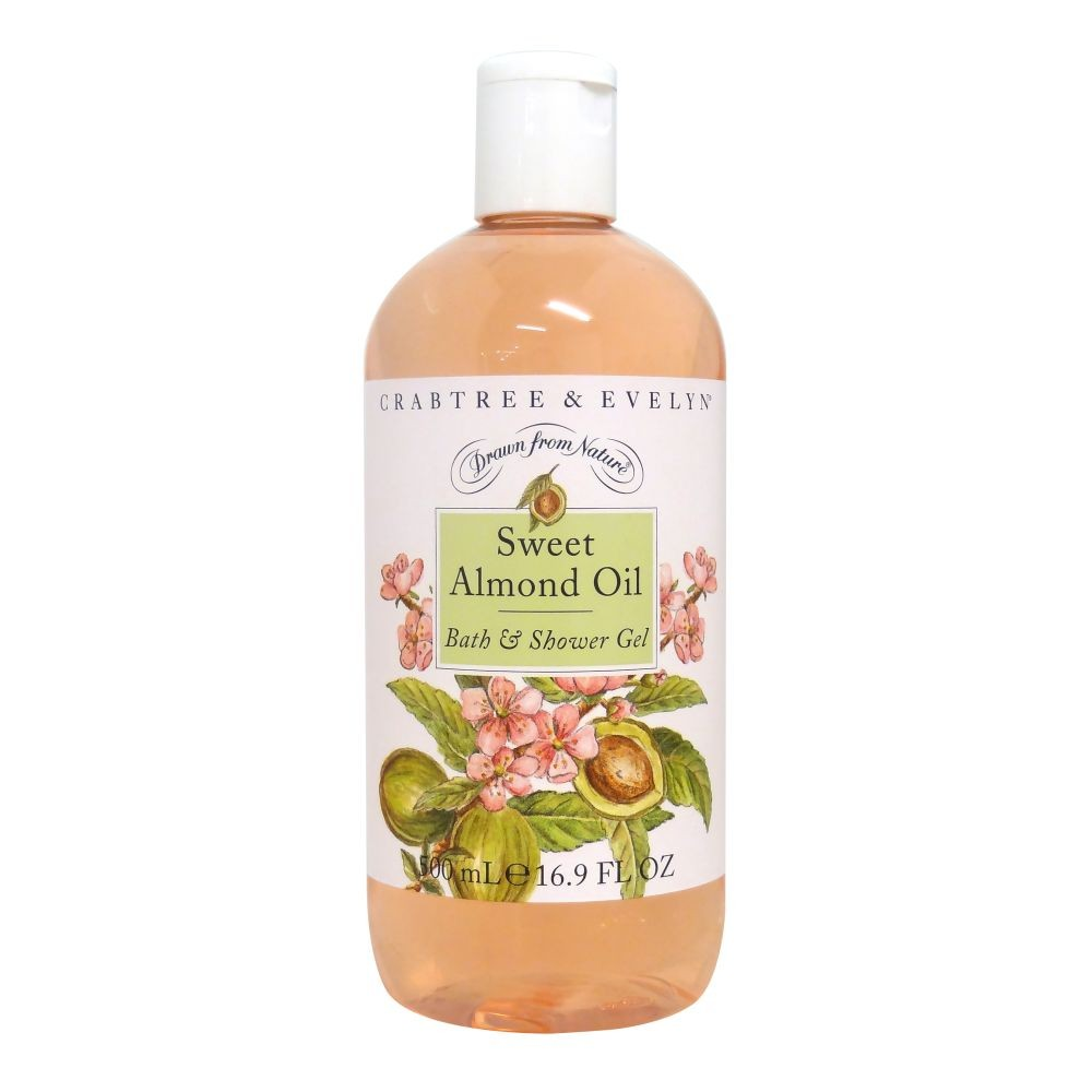 Crabtree & Evelyn Sweet Almond Oil Bath & Shower Gel 500ml