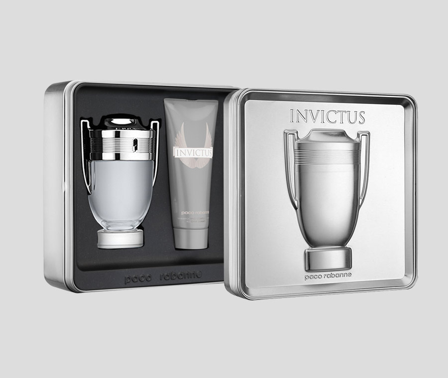 Paco Rabanne Invictus gift Set 100ml EDT  100ml Aftershave Lotion