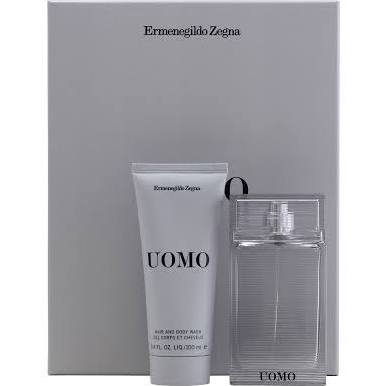 Ermenegildo Zegna Uomo Gift Set EDT 50ml Spray  100ml Hair & Body Wash