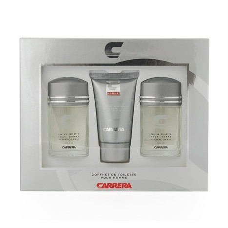 Carrera Pour Homme 3 x 30ml EDT Spray  75ml After Shave Balm UNBOXED