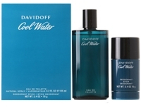 Davidoff Cool Water for Men 125ml EDT Spray  70g Deodorant Stick