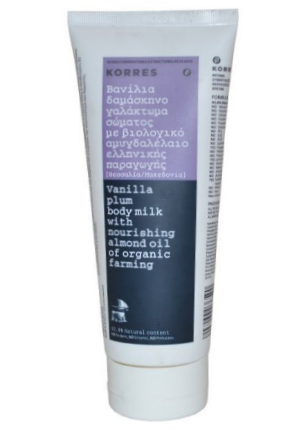 Korres Vanilla Plum Body Milk With Almond Oil (200 ml)