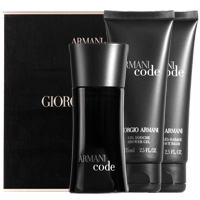 Armani Code Men 50ml EDT Spray  Shower Gel 75ml  After Shave Balm 75ml