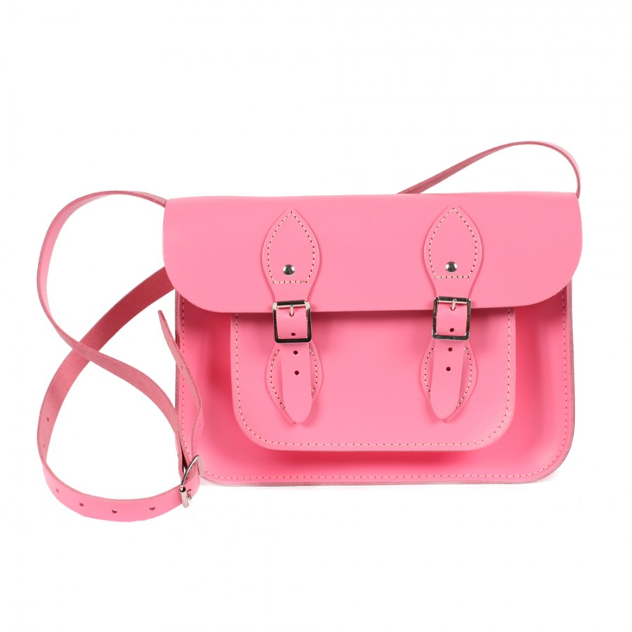 Bohemia Leather Satchel Bag 11 Baby Pink