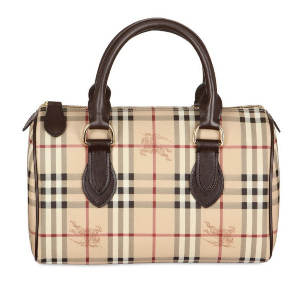 Burberry Haymarket Large Chester Bowling Bag