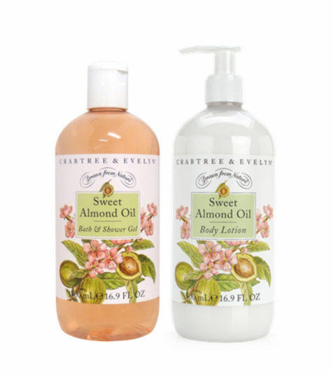 Crabtree & Evelyn Sweet Almond Oil  Body Bundle