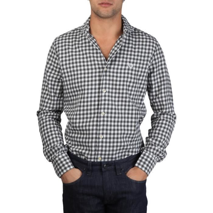 Fred Perry Mens Shirt  Grey Check (Small)