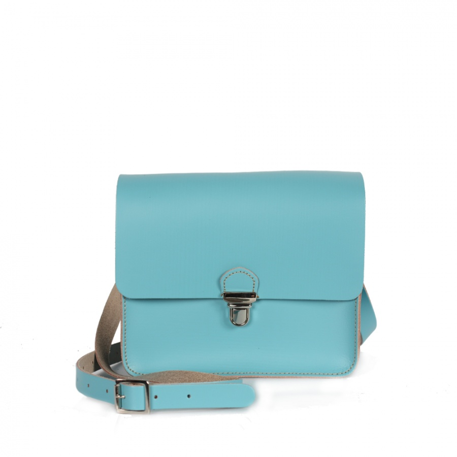New ! Bohemia Leather Boho Pop Mini Bag Aquamarine