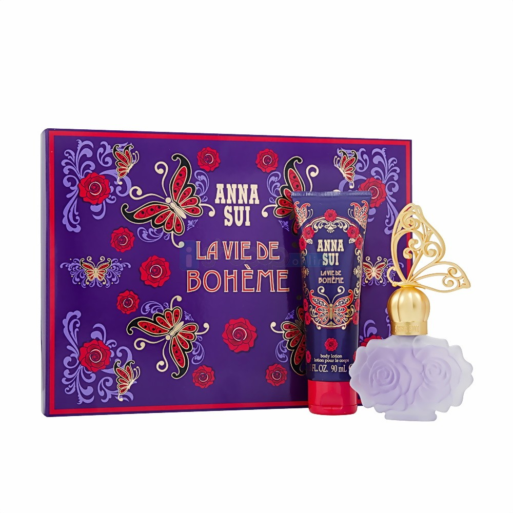 Anna Sui La Vie De Boheme 30Ml Eau De Toilette & Body Lotion 90ml Gift Set