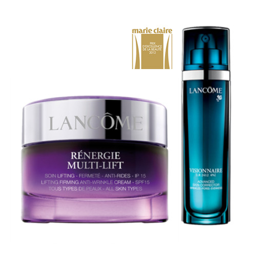 Lancome Visionnaire Advanced Skin Corrector (30 ml) & Lancome Rénergie MultiLift Day Cream SPF15 (50 ml) bundle