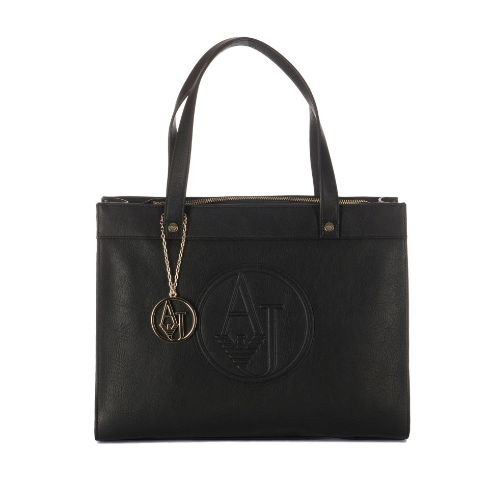 Armani Jeans Women Shopping Black Bag Medium