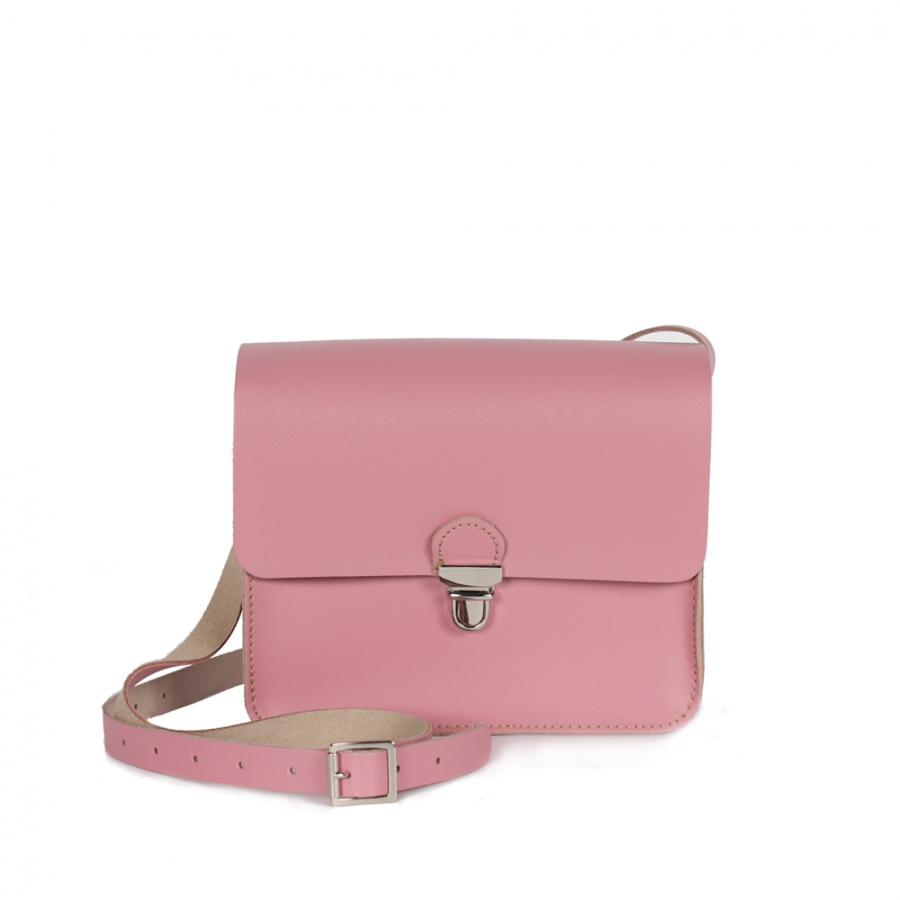New ! Bohemia Leather Boho Pop Mini Bag Vintage Pink